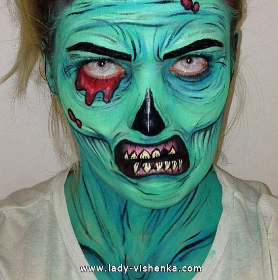 die Grüne Leiche wird an Halloween