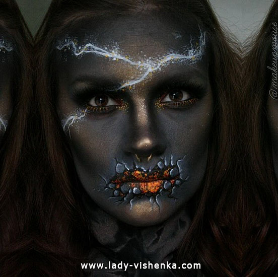 Dunkle Blitz - make-up für Halloween