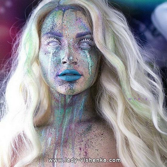 Explosion der Farbe - make-up für Halloween