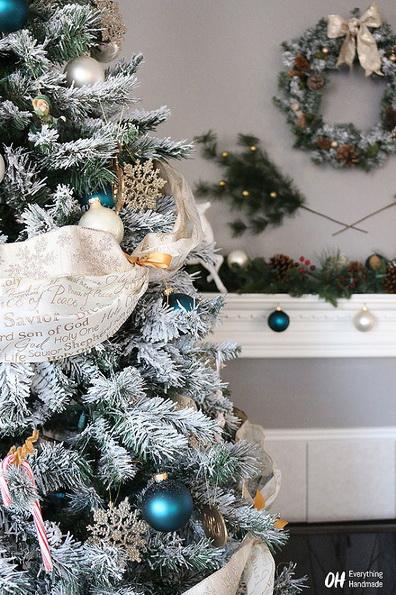 Deko-Ideen künstlichen Weihnachtsbaum