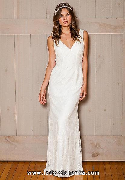 Direkte Spitze-Hochzeits-Kleid - David 's Bridal