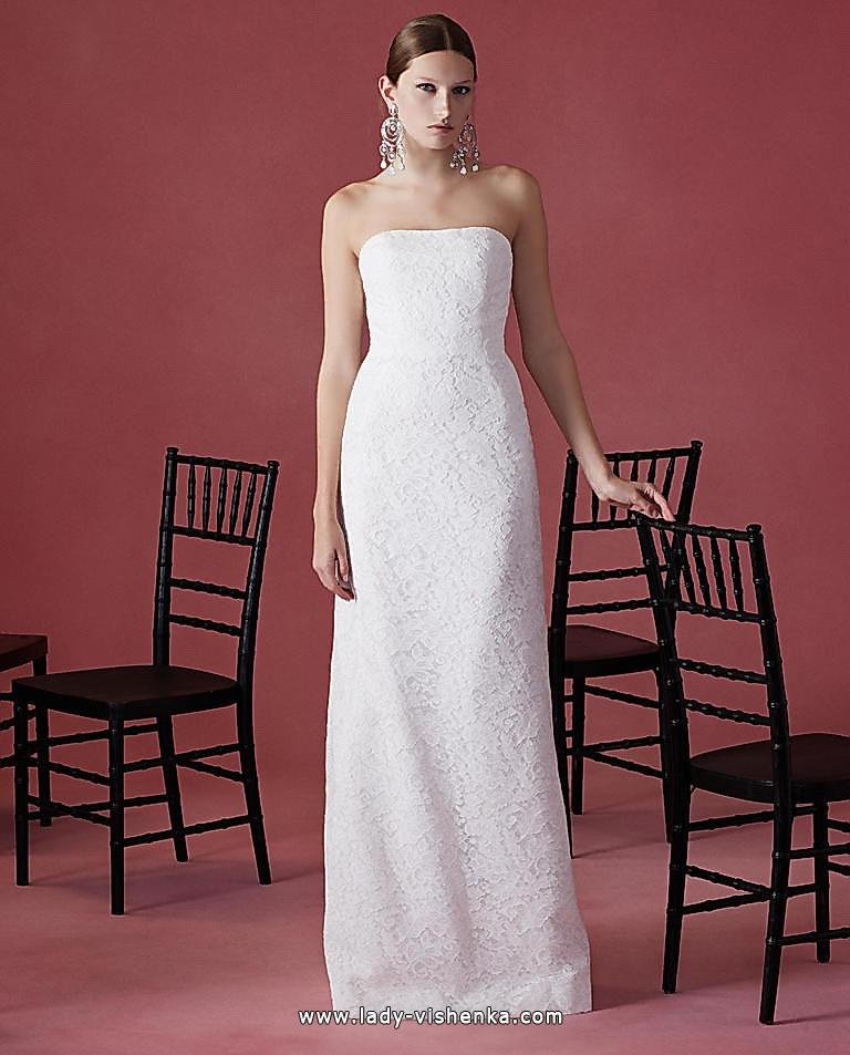 Direkte Spitze-Hochzeits-Kleid - Oscar De La Renta
