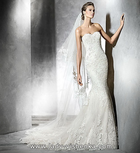 Meerjungfrau Brautkleid mit schleppe 18