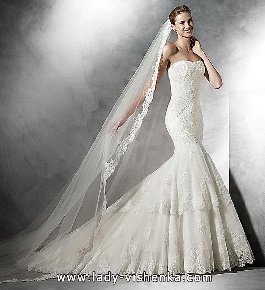 Meerjungfrau Brautkleid mit schleppe 2