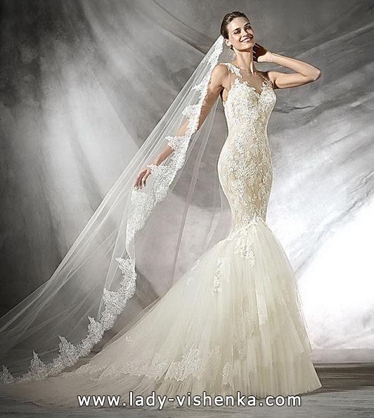 Meerjungfrau Brautkleid mit schleppe 21