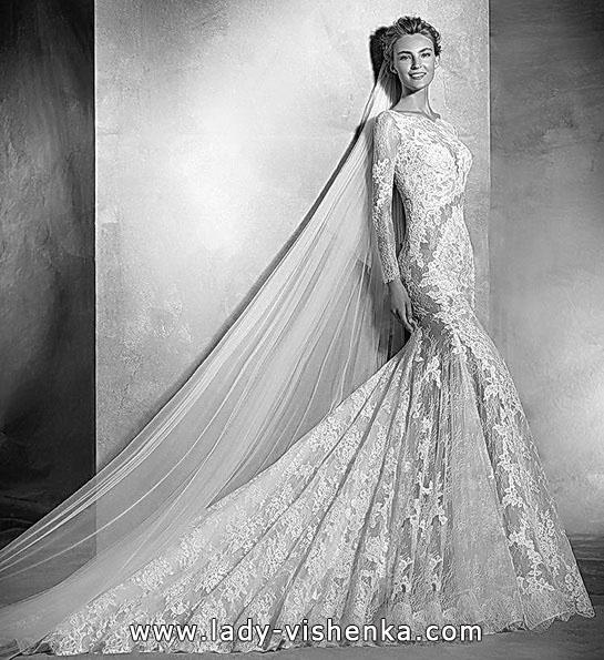 Meerjungfrau Brautkleid mit schleppe 23