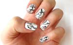 Nail Design — White Stone