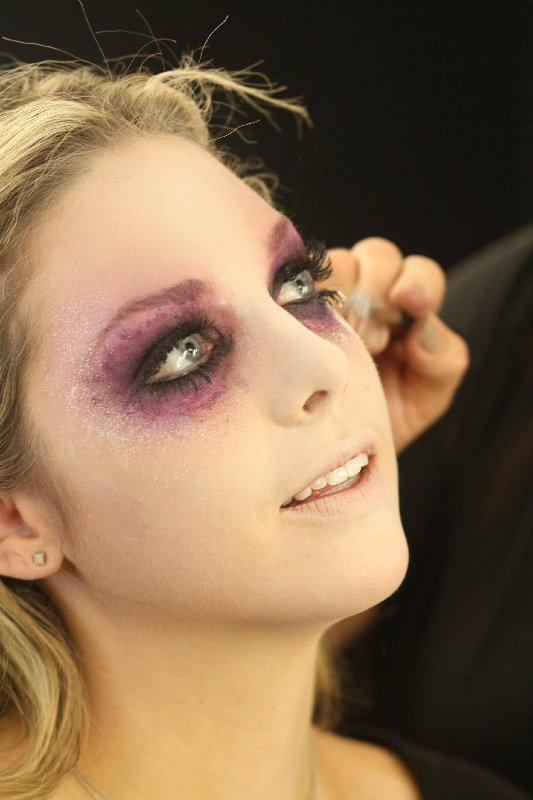 Make-up Hexe auf Halloween