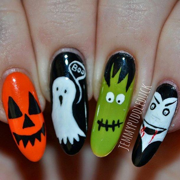 Maniküre für Halloween