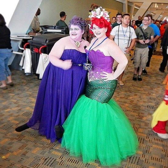 die Idee der Kostüm an Halloween - die kleine Meerjungfrau