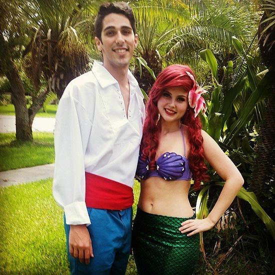 Kostüm Prinzessin Ariel auf dem Halloween-Foto