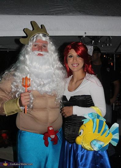 Ariel und Triton auf Halloween