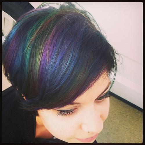 Original-Haarfarbe - Regenbogen