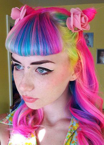 Haarfarbe Streifen