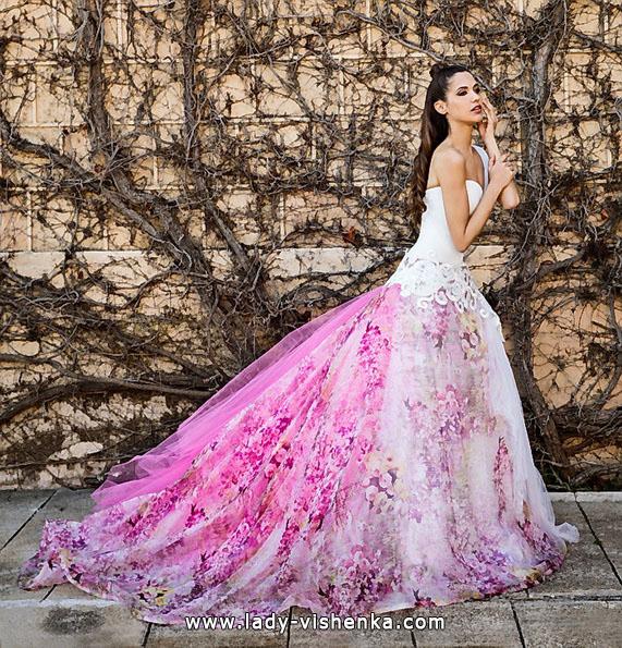 Rosa Hochzeitskleid 2016 - Jordi Dalmau