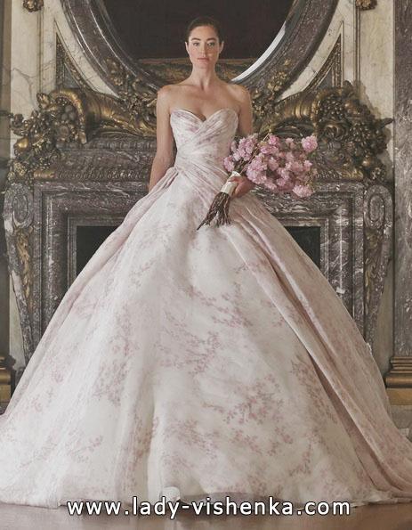 Rosa Hochzeitskleid 2016 - Romona Keveza