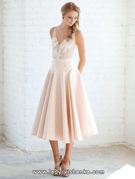 Rosa Hochzeitskleid 2016 - Tara LaTour