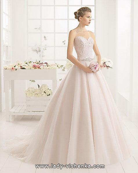 Rosa Hochzeitskleid 2016 - Aire Barcelona