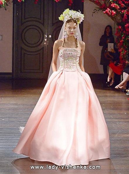 Rosa Hochzeitskleid 2016 - Naeem Khan