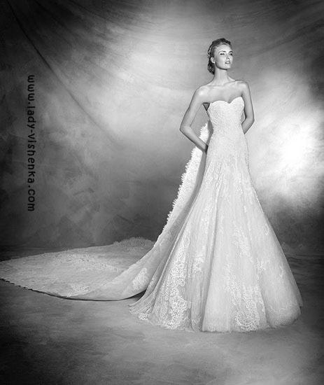 Hochzeitskleid und Schleier Pronovias