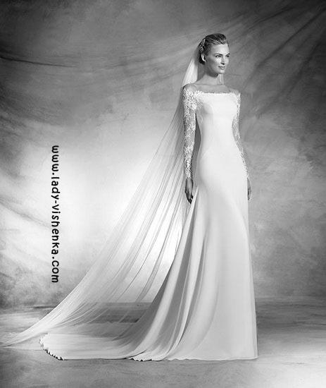 Hochzeits-Kleid mit ärmeln aus Spitze Pronovias