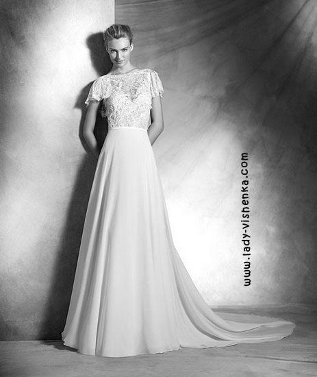Hochzeitskleid mit geschlossenen Schultern Pronovias