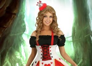 die Königin der Herzen auf der Halloween-Artikel für Mädchen