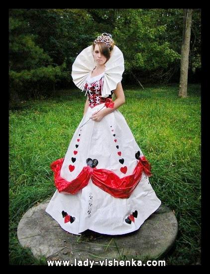 Original-Kostüm Königin der Herzen auf der Halloween