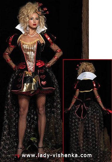 Kurze Kostüm Königin der Herzen
