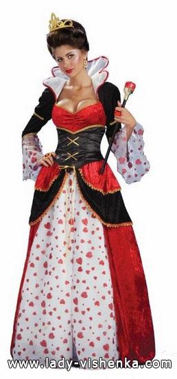 die Königin der Herzen auf der Halloween