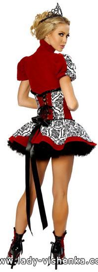 ein Sehr kurzes Kleid Königin der Herzen auf der Halloween