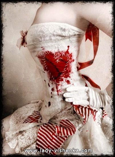 Original-Kleid Halloween-Königin der Herzen