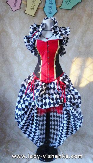 die Königin der Herzen - Kostüm für Mädchen Halloween
