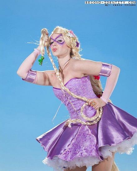 Superheld Rapunzel Halloween