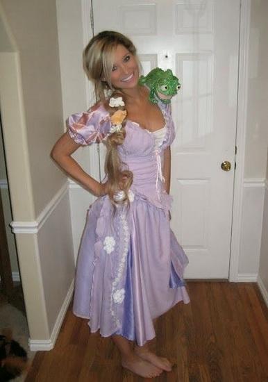 ein Schönes Kostüm Rapunzel Halloween