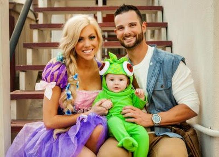 Rapunzel Halloween mit der Familie
