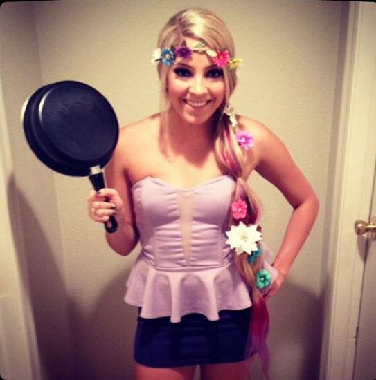 Nur ein Kostüm Rapunzel Halloween