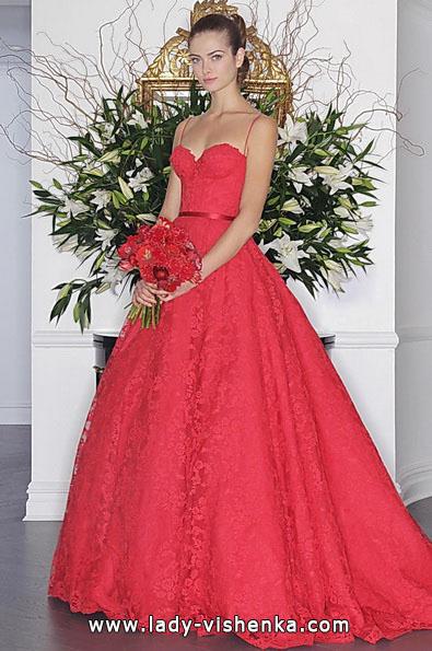 1. rotes brautkleid Prinzessin