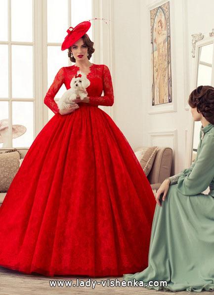 rotes brautkleid Prinzessin
