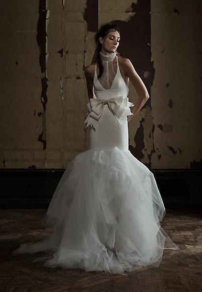 Satin-Hochzeitskleid - Meerjungfrau - Vera Wang