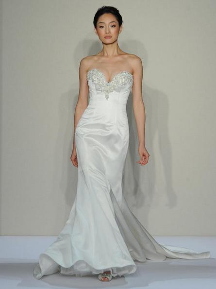Satin-Hochzeitskleid - Meerjungfrau - Dennis Basso