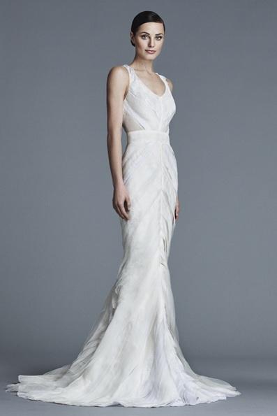 Satin-Hochzeits-Kleid - Fischschwanz - J Mendel