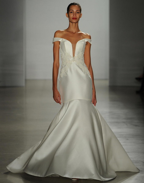 Satin-Hochzeitskleid - Meerjungfrau - Kenneth Pool