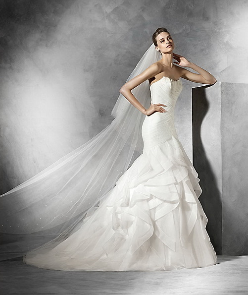 Hochzeitskleid aus Satin - Meerjungfrau - Pronovias