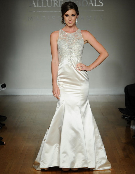 Satin-Hochzeitskleid - Meerjungfrau - Allure
