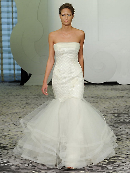 Satin-Hochzeitskleid - Meerjungfrau - Rivini