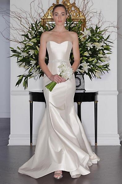 Satin-Hochzeitskleid - Meerjungfrau - Romona Keveza