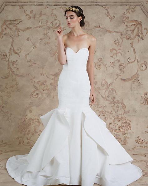 Satin-Hochzeitskleid - Meerjungfrau - Sareh Nouri