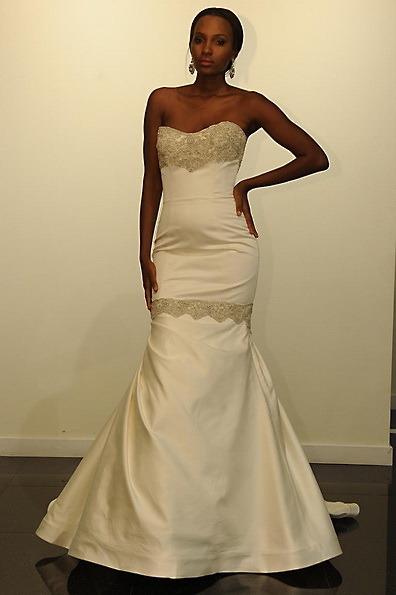 Satin-Hochzeitskleid - Meerjungfrau - Victor Harper