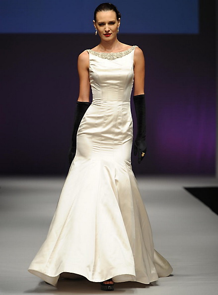 Hochzeitskleid aus Satin - Meerjungfrau - Yumi Katsura